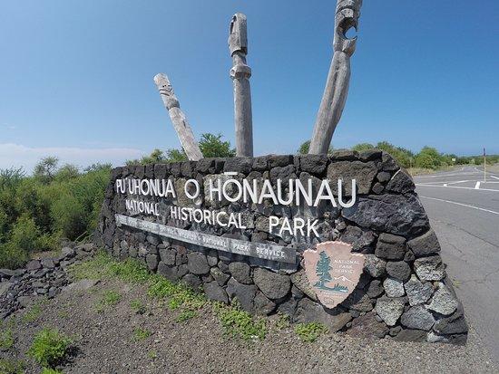Honaunau, Hawái: Park entrance