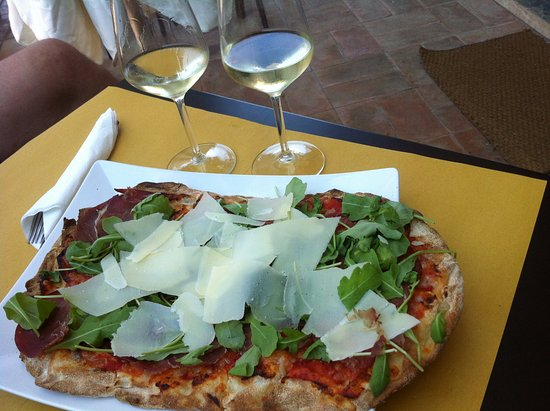 Pizza Enrico With White Wine By The Seven Summer 2016 Picture Of