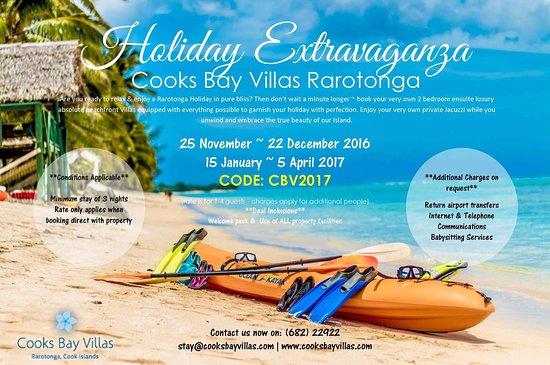 Vaimaanga, Cookøyene: 2016-17 HOLIDAY EXTRAVAGANZA