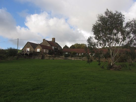 Rudge Farm Cottages: View from Pond