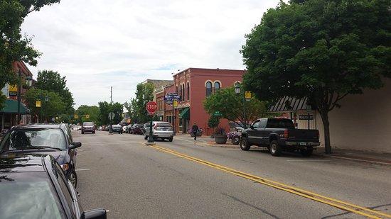 Rockford, MI: Street View of Corner Bar
