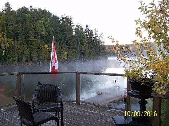 Bancroft, Canada: Balcony outside of Great Room