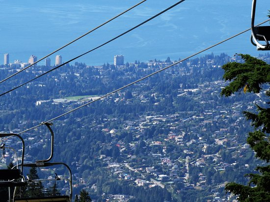 North Vancouver, Canada: Vancouver from the chairlift