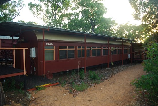 Undara Volcanic National Park, Australia: Railway car accommodation.