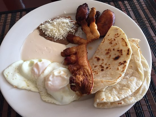 Sabor Latino Restaurant: Honduran Traditional Breakfast (Pork Skin version) - Sabor Latino, Sarasota FL