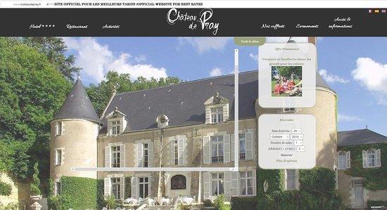Chateau de Pray : site officiel meilleurs tarifs / offical web site best rate