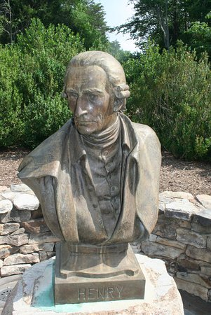 Brookneal, VA: bust of Patrick Henry