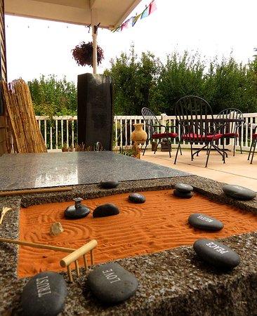 Rockville, ยูทาห์: Lizard Zen garden.