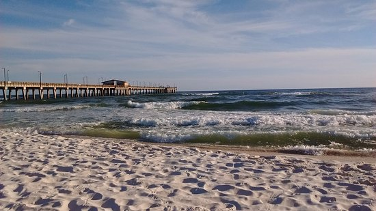 Gulf Ss Public Beach And The Fishing Pier