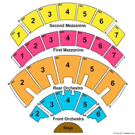 colosseum las vegas seating chart: Mezzanine seats have limited views if artists like mariah leaves