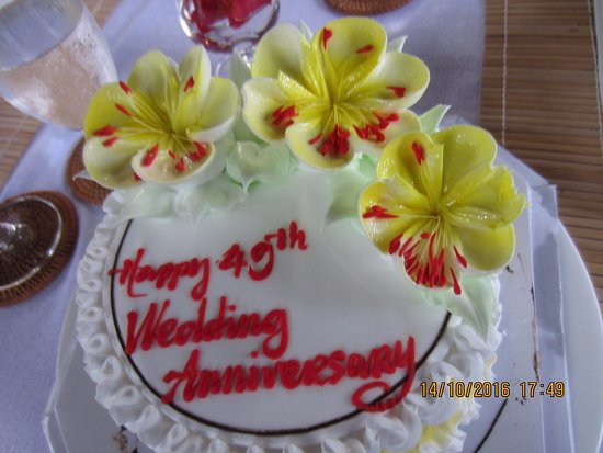 Beautiful Specially Prepared Wedding Anniversary Cake Picture Of