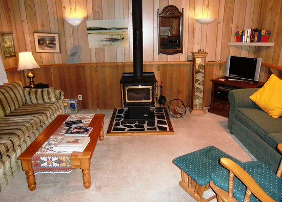 Galiano Island Canada A Cozy Living Room With Fireplace Wood