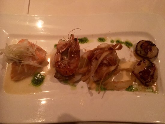 Roadford House Restaurant : Five fish maincourse