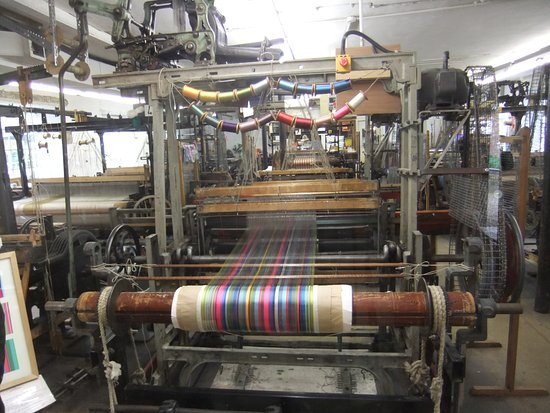 Whitchurch Silk Mill: A loom in operation
