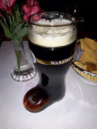 Bristol, RI: Warstein dunkel liter boot.