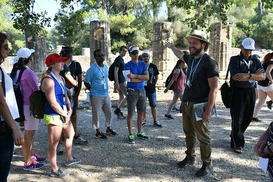 Ολυμπία, Ελλάδα: Tour guide Vasilis during his tour in Olympia