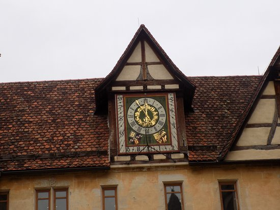Bebenhausen Abbey outdoor clock