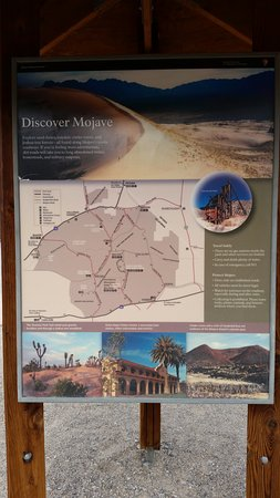 Soda Springs, CA: Map of the Mojave Preservation Area.