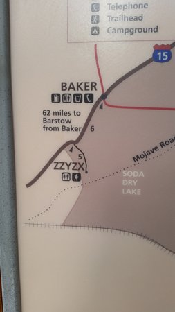 Soda Springs, Kalifornien: More of the map, showing the location of Zzyzx.