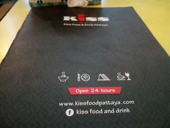 kiss food drink menu