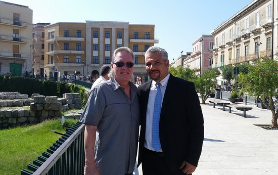 Sicily Limousine Service Day Tours: Me with Alessio our driver