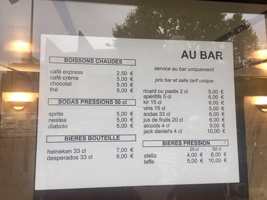 Parisot, France: Des prix plus qu'abusifs, sans service en plus ! 👎😡