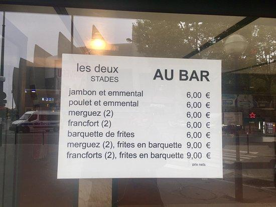 Parisot, France: Autre exemple de prix excessifs les jours de match ... et sans service !👎😡
