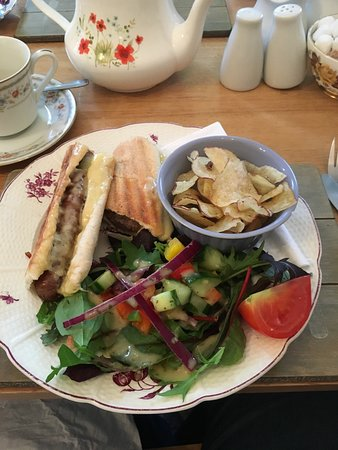 Rosie Lea Tea House & Bakery: A sausage and cheese panini - very tasty!