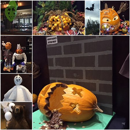 Invermere, Canada: The competition is on! Each department created their own version of Halloween :)