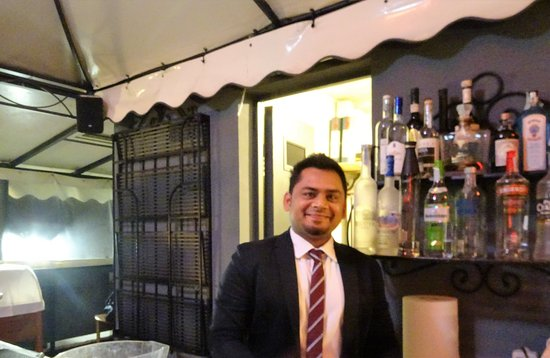 Trilussa Palace Congress & Spa: The super friendly barman in the roof top bar