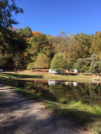 Whittier, NC: camper view in the morning