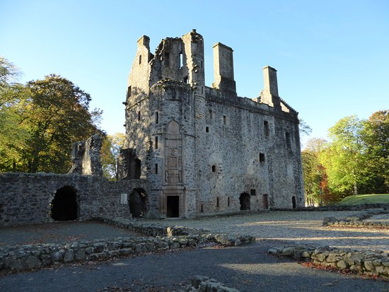 Huntly Castle Palace ruins
