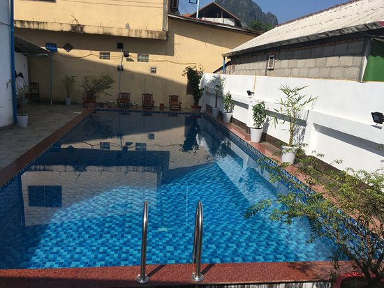 Nice swimming pool picture of vangvieng central park hotel vang vieng tripadvisor for Nice hotels with swimming pool
