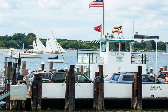 Oxford, MD: Ferry Shortcut to St. Michaels just a half block away from Sandaway