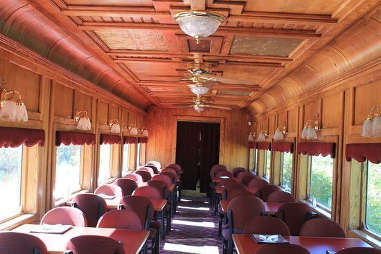 Royal Gorge Route Railroad: inside the dining car