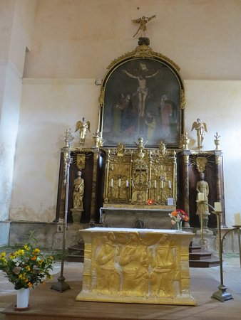 Saint-Avit-Senieur, France: Church Altar