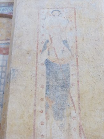 Saint-Avit-Senieur, France: 14th Century Mural Saint Christopher