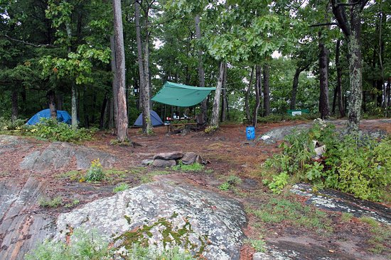 Massasauga Provincial Park: Our campsite, occupied