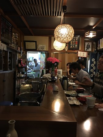 a tiny restaurant in nakamachi street matsumoto with an amazing