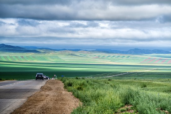 A very beautiful view along the way to Hustai National Park