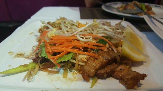 Crispy Pork Noodles - Sala Thai Restaurant Tugun