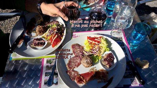 Saint-Melany, فرنسا: L'entrée, à manger pas du restaurant ;- )