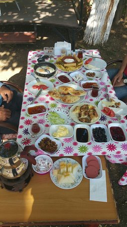 Uzumlu, Turkey: Breakfast just for 3 musketeers :O