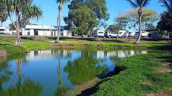 freshwater lake at Moore Park Beach Holiday Park