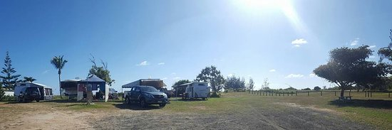 Powered campsites 79, 80, 81 at Moore Park Beach Holiday Park