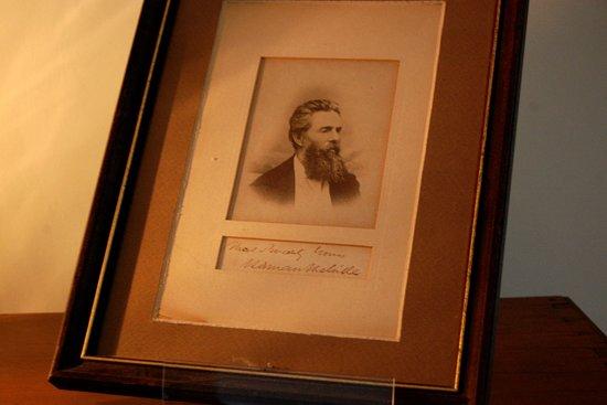 Herman Melville's Arrowhead : Herman Melville portrait and signature.