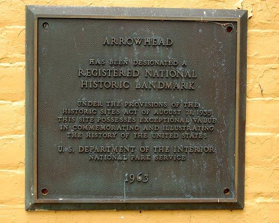 Herman Melville's Arrowhead : Arrowhead is a Registered National Historic Landmark.