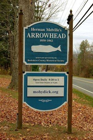 Herman Melville's Arrowhead : Signpost for Arrowhead.