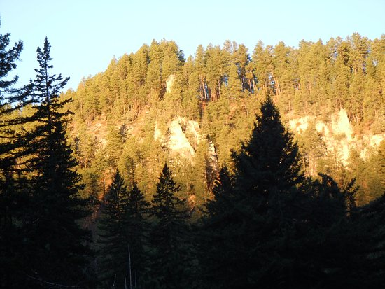 October sunrise over Spearfish Canyon, South Dakota