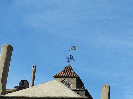 Fonthill: Wind-vane on top of castle
